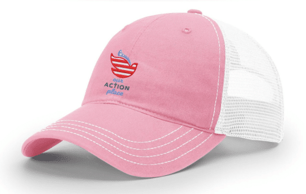 Blessing Through Action Trucker Hat- Sideview