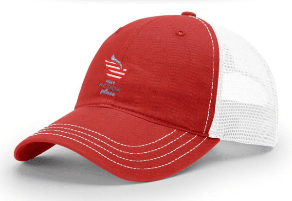 Blessings Through Action Trucker Hat - Sideview