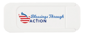 Blessings Through Action Webcam Cover