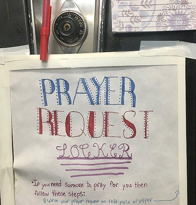 Student Uses Locker to Pray for Classmates